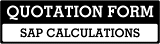 SAP Calculations Quote  For Caistor